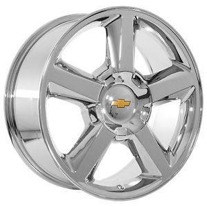 "22"" inch Chevy 2009 Silverado Tahoe Avalanche Suburban Chrome Wheels Rims"