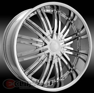 22 inch 22x8 ELR19 Chrome Wheels Nissan Altima Maxima