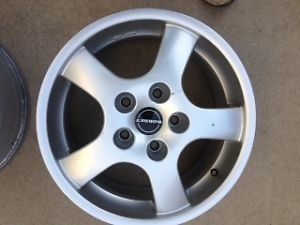 "Borbet 16"" Wheels Rim Size 7 5JX16H2 Set of 2 Wheels BMW 3 Series"
