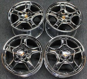"Porsche 997 911 996 Factory Lobster Wheels 19"" 19 BBs Chrome"