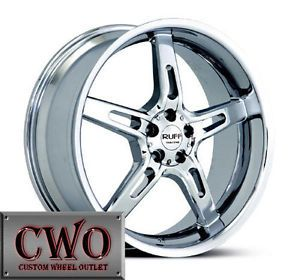22 Chrome Ruff R285 Wheels Rims 5x120 5 Lug BMW 5 6 7 8 9 Series