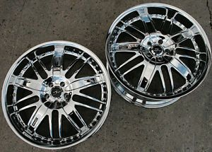 "Dvinci Spruz 22"" Chrome Rims Wheels Ford Mustang V6 V8 Staggered"