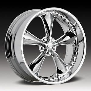 "18"" FOOSE Nitrous 18x8 5 18x10 5 Lug 5x4 5 Staggered Chrome Wheels Rims Set"
