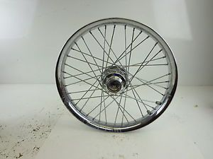 "Harley Davidson 21"" Wide Glide Chrome Profile Laced Front Wheel 43445 05"