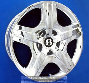 Bentley Continental GT Flying Spur 19 inch Chrome Wheel Exchange Rims 19""