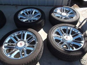 "22"" Chrome Cadillac Escalade Wheels Tires Rims Yukon Denali Silverado Tahoe 5358"