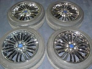 Factory Ford Fusion PVD Chrome Wheels and Tires 18""