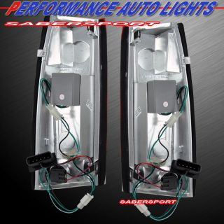 "88 99 Chevy GMC C K C10 Full Size Truck SUV ""L E D "" LED Tail Lights Red Pair"