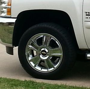 "Silverado 20"" Chrome Wheels and Tires"
