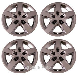 "New Replacement Aftermarket Bolt on 17"" inch Chrome Hub Caps Wheel Rim Covers"
