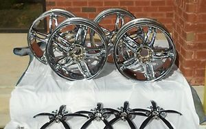20 inch one set of 22x8.5m chrome wheels rims 5x114.3