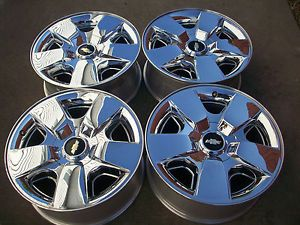 "20"" Chevy Silverado Tahoe Avalanch 1500 Factory Chrome Clad Wheels Rims"