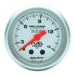 Auto Meter 4311 Ultra Lite Mechanical Fuel Pressure Gauge