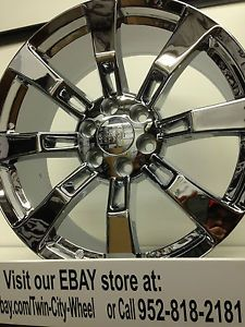 22 inch Chrome GMC Sierra Yukon Denali GM Accessory Factory OE Wheels Rims 6x5 5