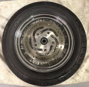 "Harley Davidson Touring 16"" Spoke Wheel Continental Tire Rotors 2000 2007"