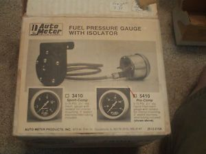 Auto Meter Pro Comp Fuel Pressure Gauge and Isolator