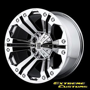 22 x11 XD Series XD778 Monster Chrome 5 6 7 8 Lug Wheels Rims Free Lugs