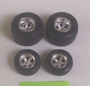 Firestone Pro Street Tires Front Tires Mag Wheels Only Revell 1 25 Parts 3