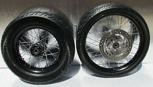 "Harley Davidson Dyna FXD Chrome Spoke Wheels 21 inch Front Rim 21"" Tire"