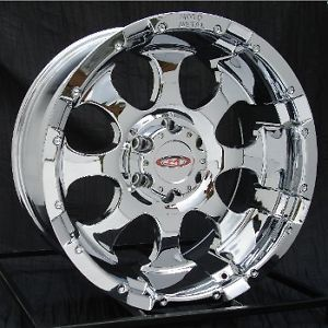 20 inch Chrome Wheels Rims Chevy Silverado GMC 6 Lug 1500 Truck Avalanche Yukon