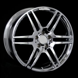 "19"" AMG Style Chrome Wheels Rims Fit Mercedes s Class W220 W221 2000 2006 2007"