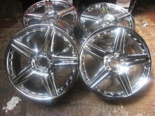 "Set 19"" Mercedes Benz AMG Style VI 2 PC Chrome Wheels B66030080 B66030081"