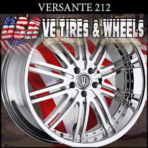 "Versante 212 20""Chrome Wheels Tires Nissan Maxima Dodge Caliber Lexus GS"