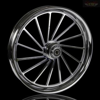 "Harley Davidson 21"" inch Custom Chrome Wheel ""The Bantam"" Harley Wheels"