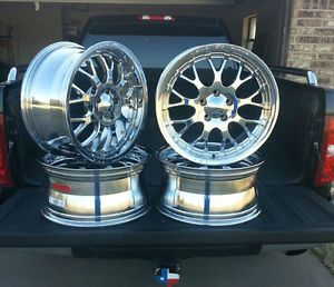 "4 Weld Racing EVO Chrome Rims Wheels 18"" x 8 50 5 Lug"