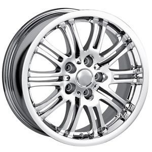 18 inch Detroit M3 Chrome Wheels Rims 5x120 BMW 5 Series 6 Series 7 Series