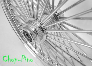 "New 21"" Custom 52 Spokes Chrome Front Wheel for Harley Motorcycles 3 4"" and 1"""
