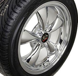 "17"" Chrome Bullitt Bullet Style Wheels Rims Tires 17x8 Fits Mustang® GT"
