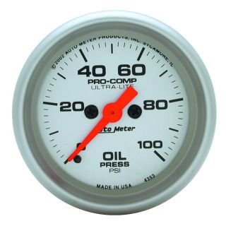Auto Meter 4353 Ultra Lite Electric Oil Pressure Gauge
