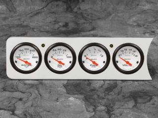 41 42 46 47 48 Chevy Car 4 Dash Panel Insert w Auto Meter Phantom Gauges