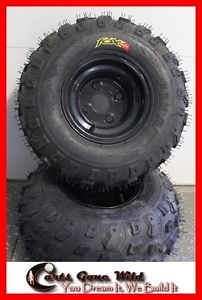 Golf Cart Wheels and Tires Set of 4 Off Road All Terrain Club Car Yamaha EZGO
