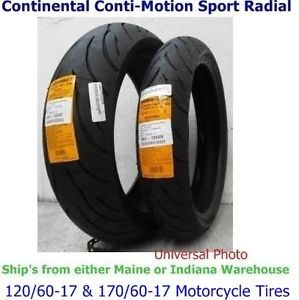 120 60 17 Front 170 60 17 Rear Continental Conti Motion Motorcycle Tires