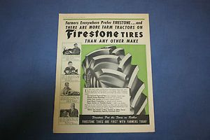 Vintage Magazine Ad Firestone Farm Tractor Tires Eaton 2 Speed Truck Axles A