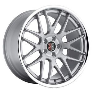19 inch 19x8 5 Roderick RW6 Silver Chrome Lip Wheels Rims 5x120 Camaro Equinox