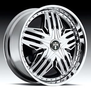 "24"" Dub Stuntin Spinner Chrome Wheel Set"