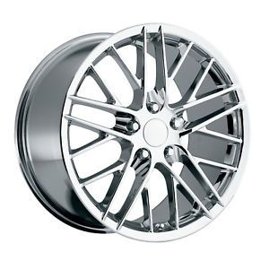 18x8 5 19x10 C6 ZR1 Corvette Replica Chrome Wheels RMS Fits C6 2005 to 2013