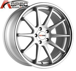 19x8 5 9 5 Euro Mag EM10 Silver Chrome Lip Wheel Fit BMW 325 328 330 335i 5x120