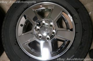 "Chevy Silverado GMC Yukon 18"" Chrome Wheels Tire 1500 Tahoe Sierra Suburban"