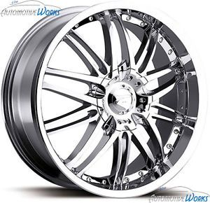 18x8 Platinum 200 Apex 5x110 5x115 40mm Chrome Wheels Rims inch 18""