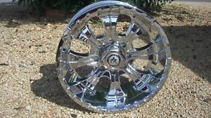 18 inch 18x9 5 Chrome Rims Wheels Lifted Chevy Dodge RAM Ford Truck Hummer H2
