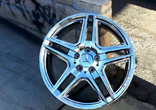 "4 18"" Mercedes Benz Chrome E Class AMG Wheels Rims 85146 85150 Factory"