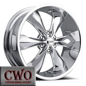 20 Chrome 20x9 FOOSE Legend 6 Wheels Rims 6x139 7 25mm Offset