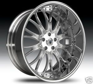 "24"" asanti 24 inch AF145 AF 145 Chrome Multi Piece 5 6 Lug Rims Wheels Tires"