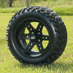 "NEW  14x7 Dominator Golf Cart Wheels and 23"" Sahara Classic All Terrain Tires"