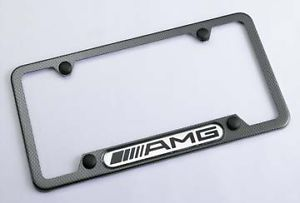 Genuine Mercedes Benz Carbon Fiber AMG License Plate Frame