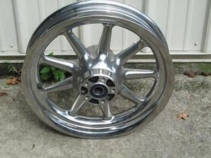 "Harley Davidson Chrome 16 x 3 9 Spoke Wheel 1"" Axle"